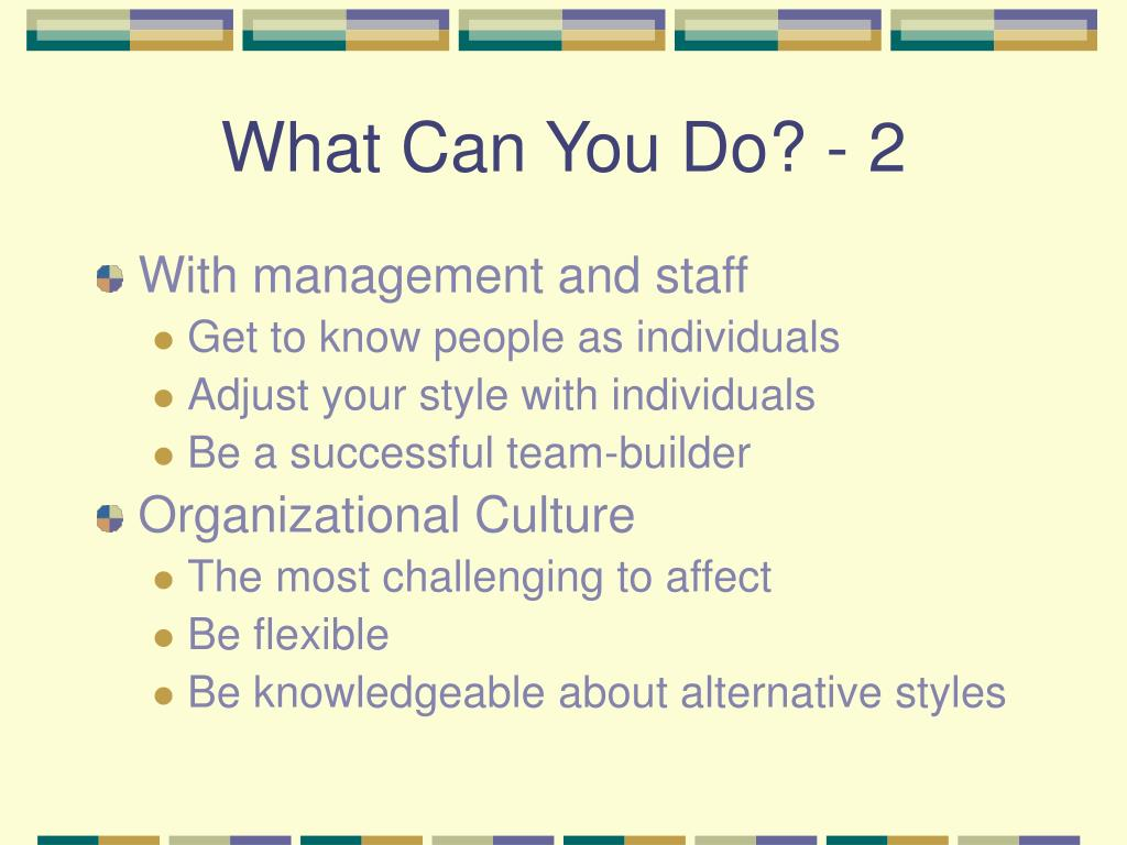 What Can You Do? - 2