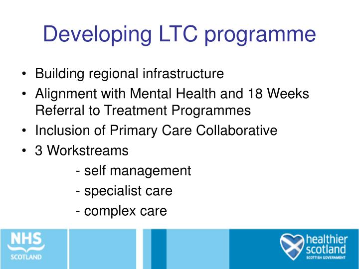 Developing LTC programme
