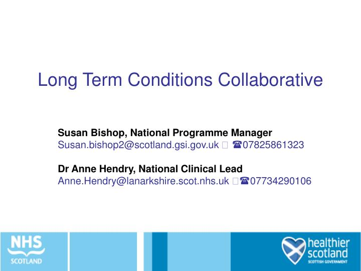 Long term conditions collaborative