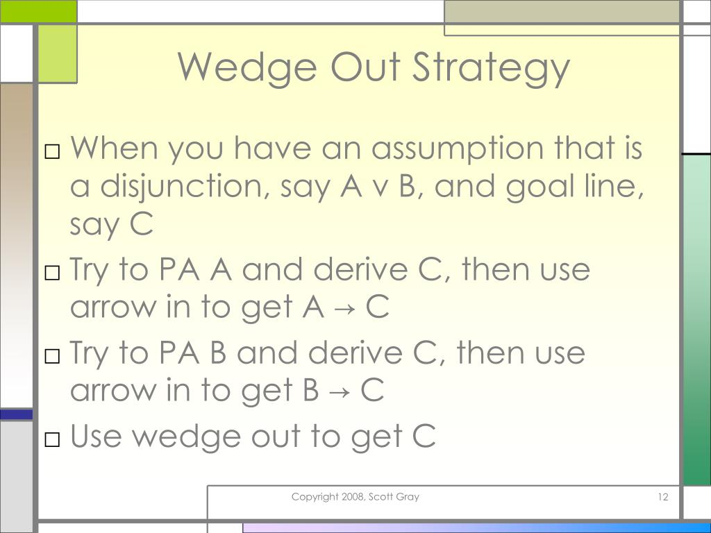 Wedge Out Strategy