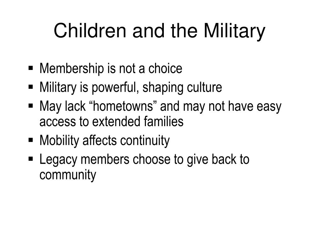 Children and the Military