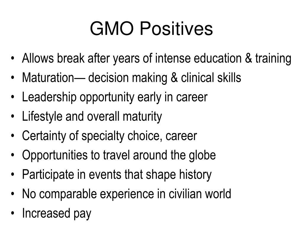 GMO Positives
