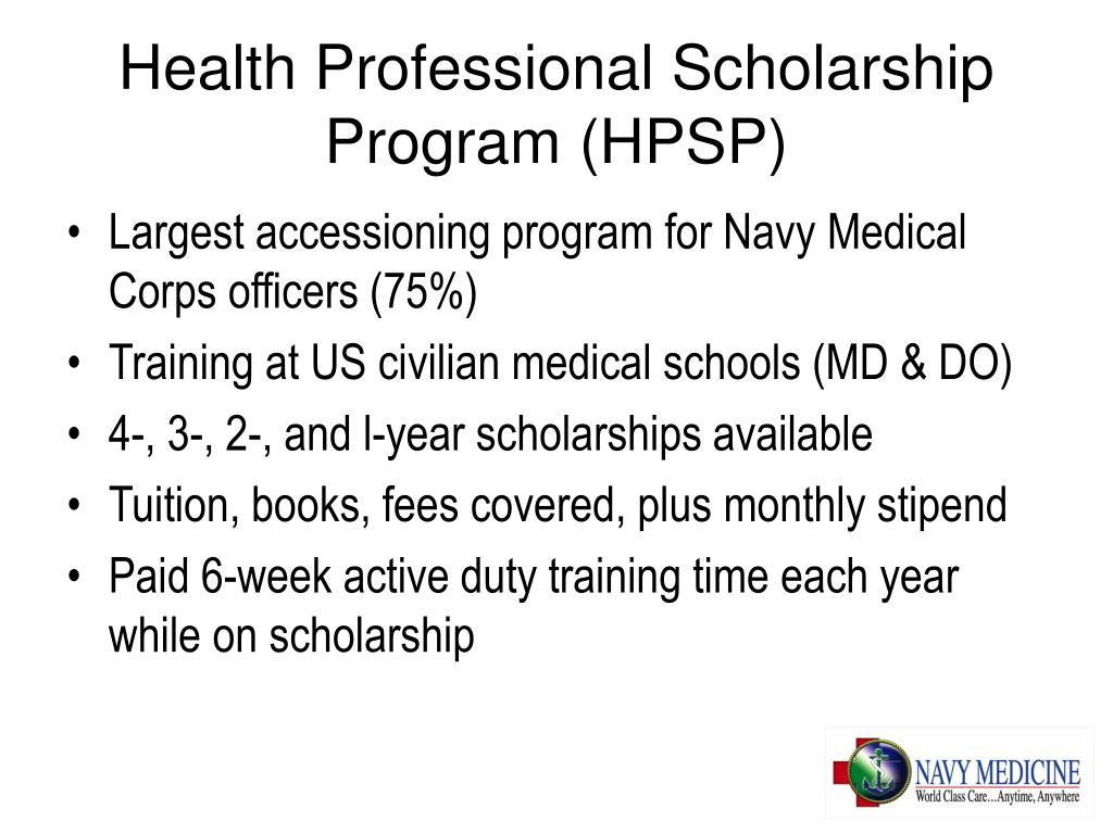 Health Professional Scholarship Program (HPSP)