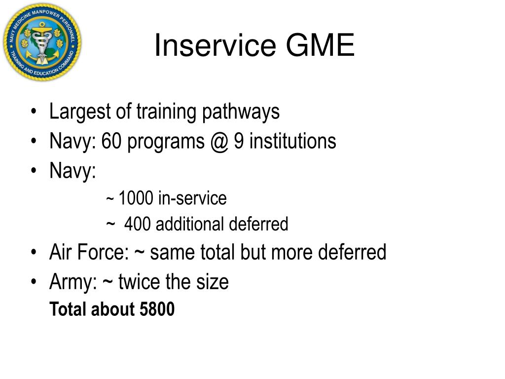 Inservice GME