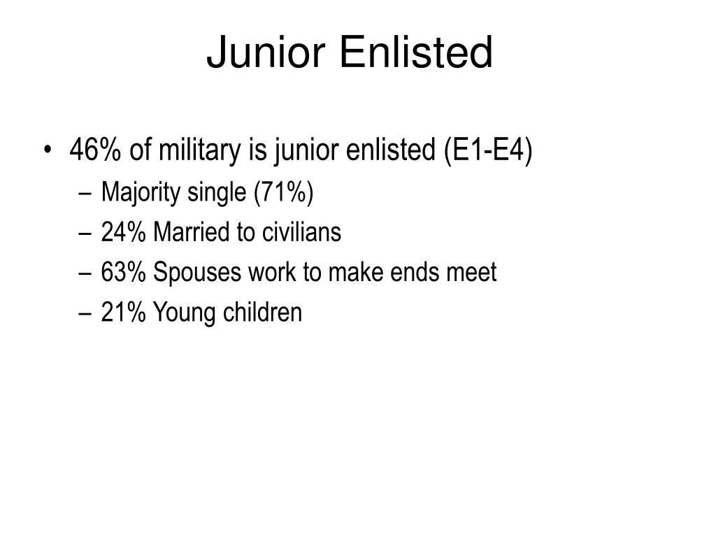 Junior Enlisted