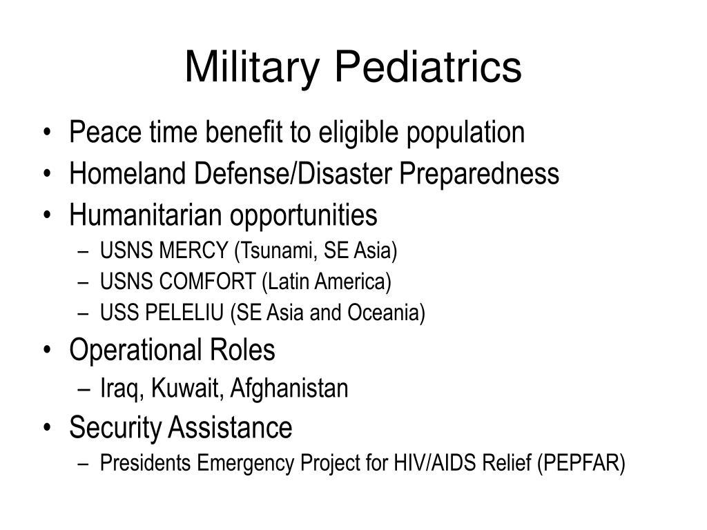 Military Pediatrics