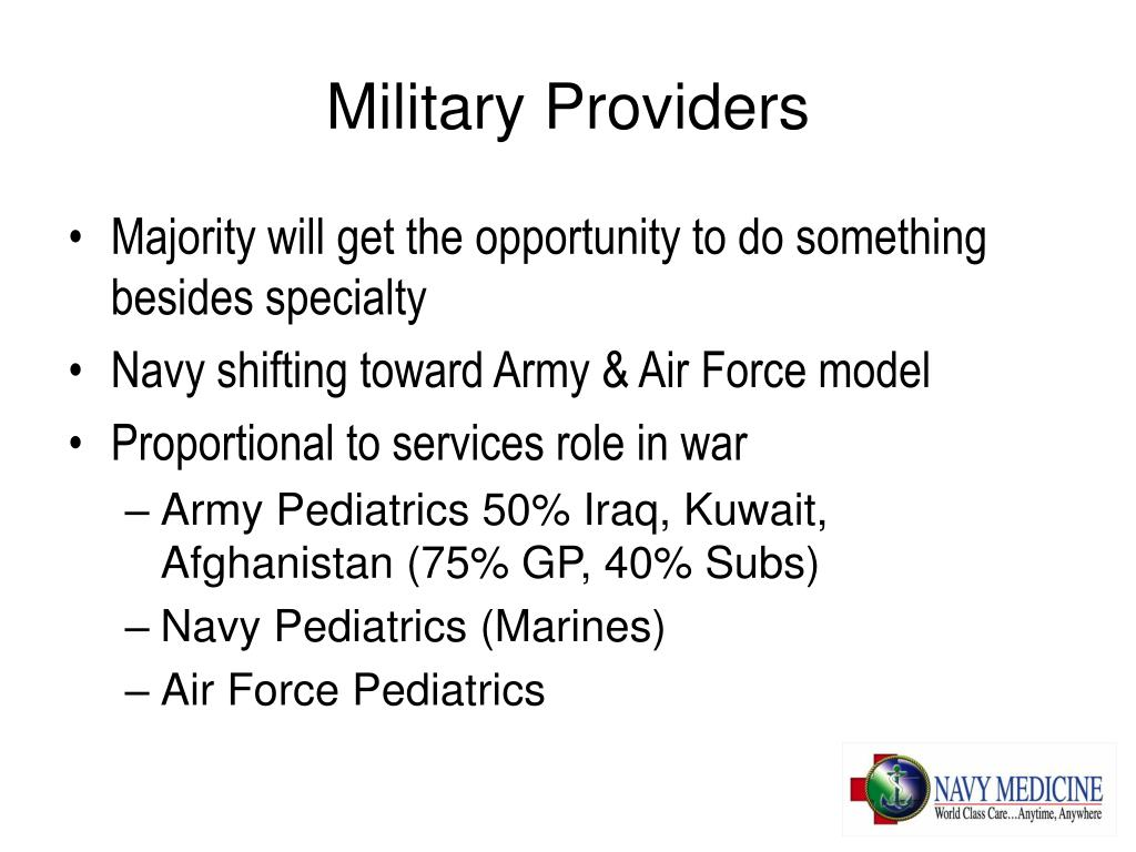 Military Providers
