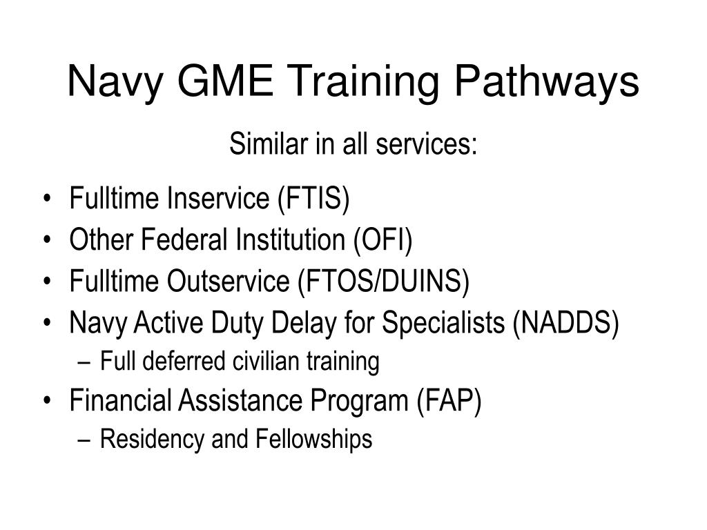 Navy GME Training Pathways