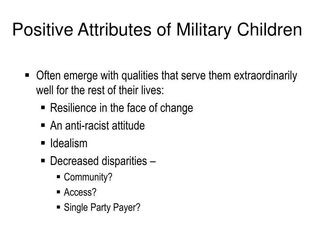 Positive Attributes of Military Children