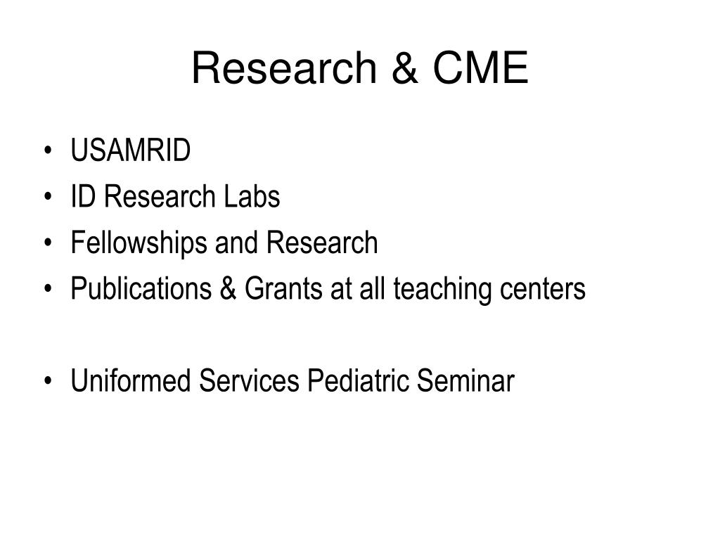 Research & CME