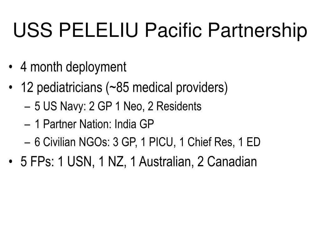 USS PELELIU Pacific Partnership