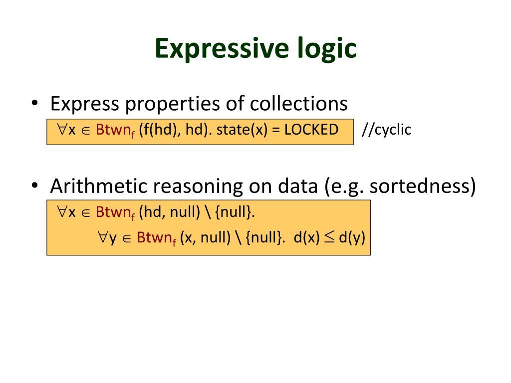 Expressive logic