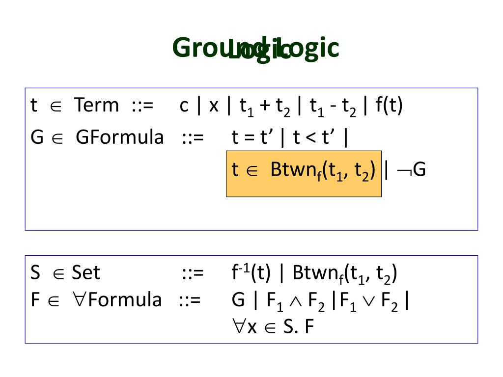 Ground Logic