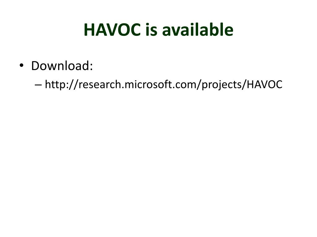 HAVOC is available