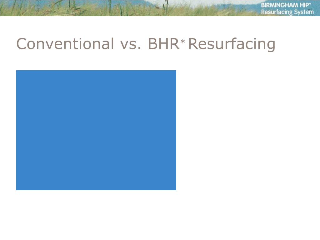 Conventional vs. BHR