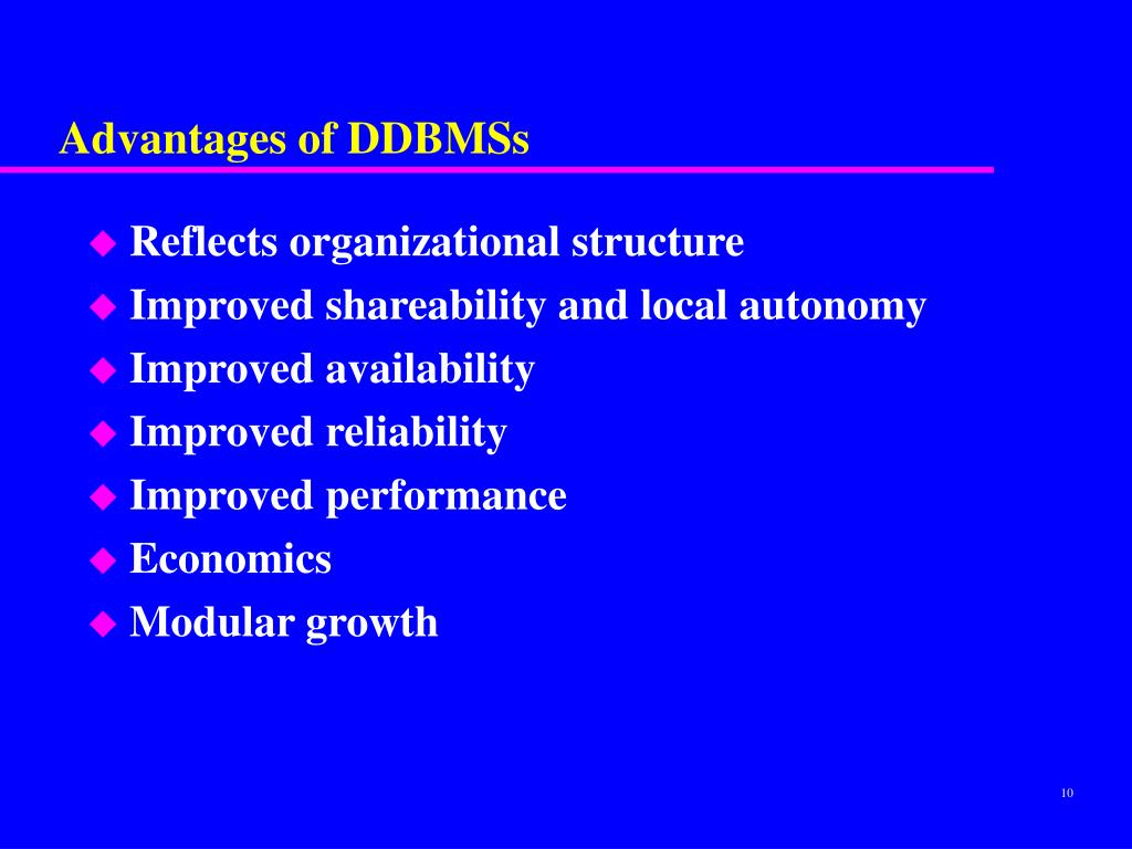 Advantages of DDBMSs