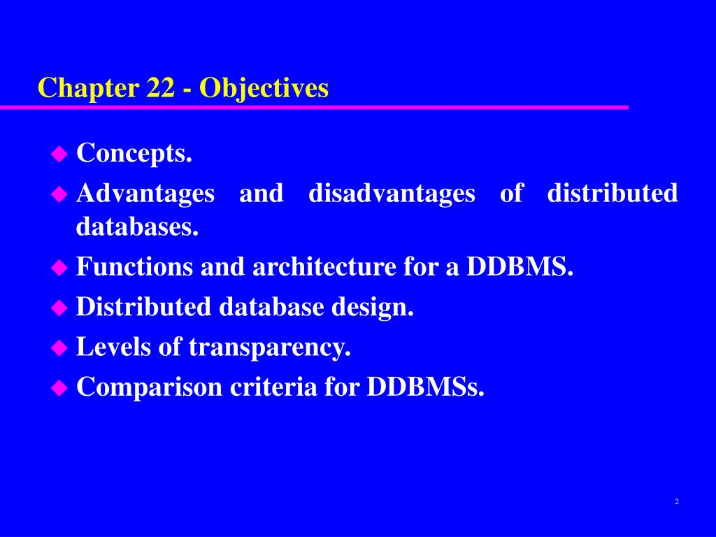 Chapter 22 - Objectives