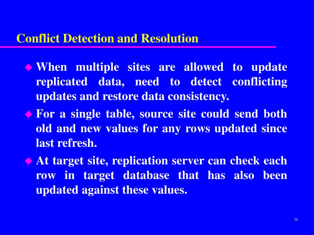 Conflict Detection and Resolution