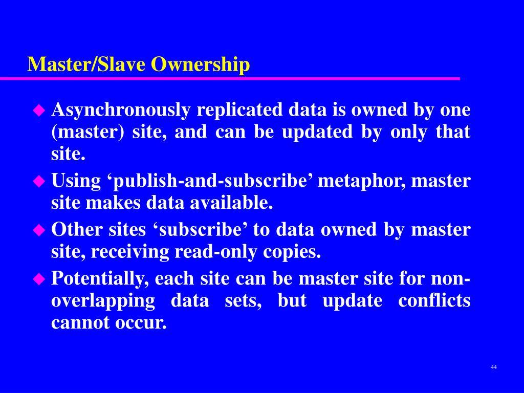 Master/Slave Ownership