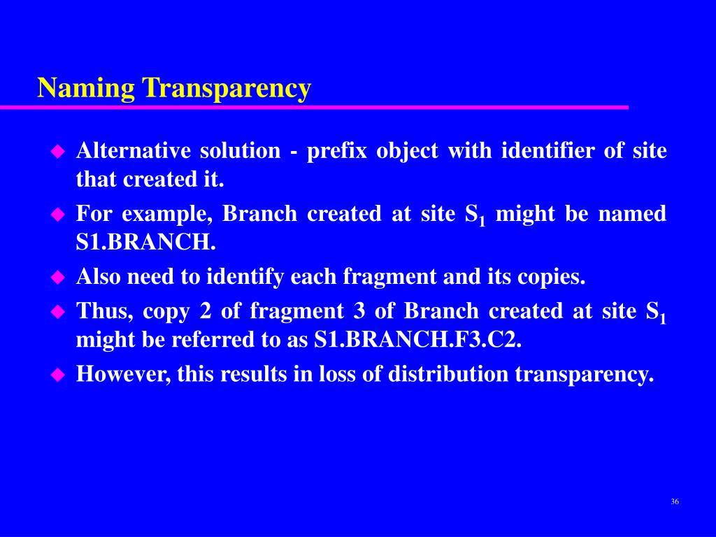 Naming Transparency