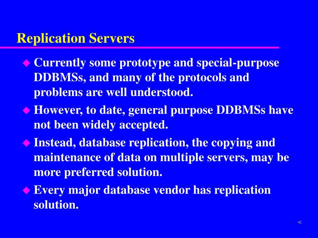 Replication Servers