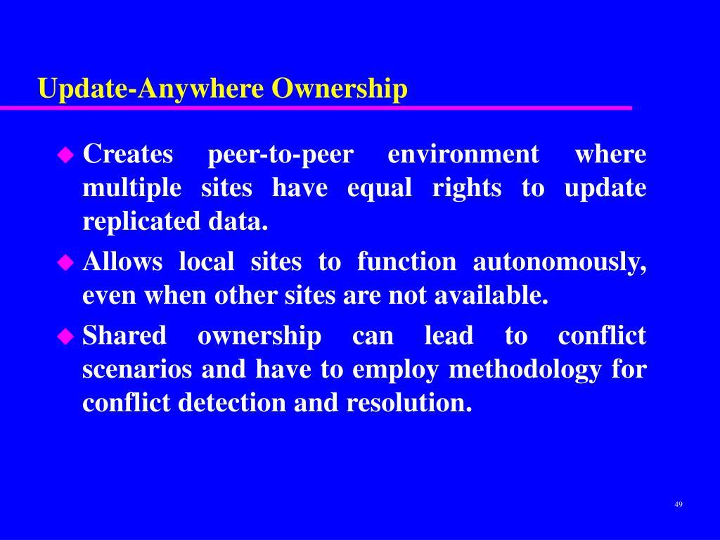 Update-Anywhere Ownership