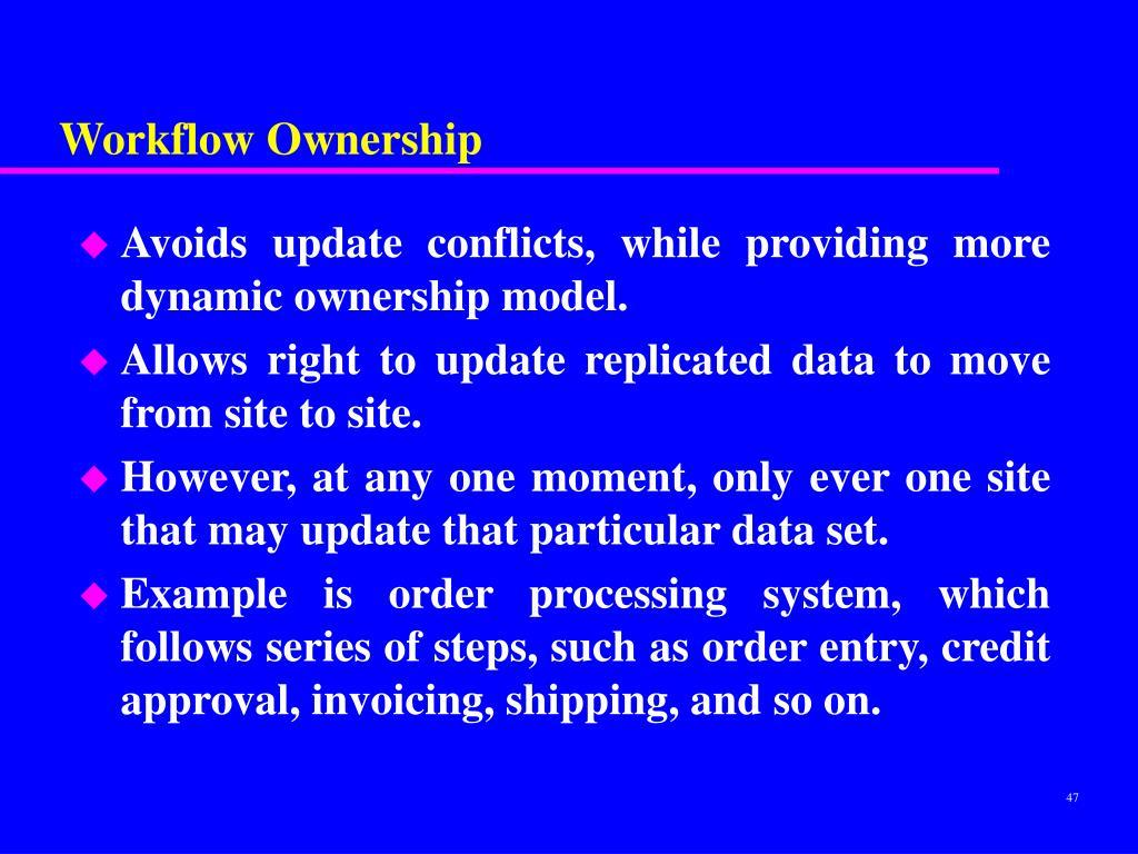 Workflow Ownership
