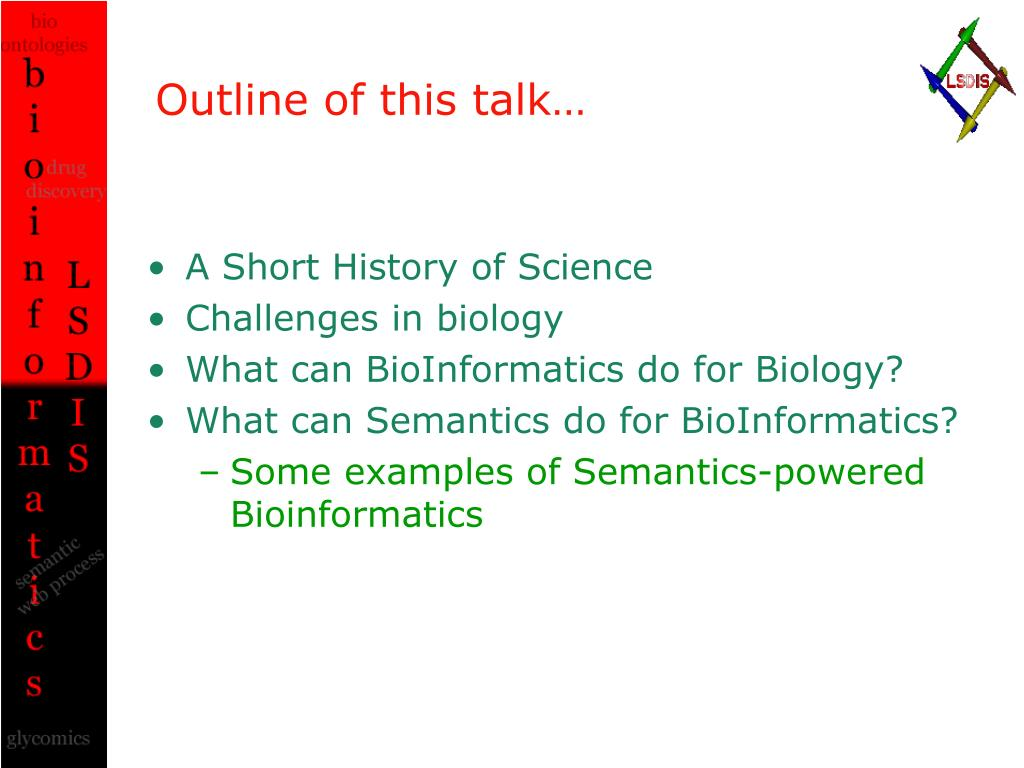 Outline of this talk…