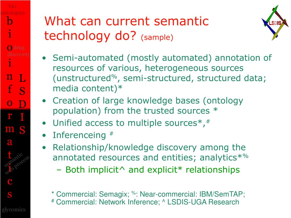 What can current semantic technology do?