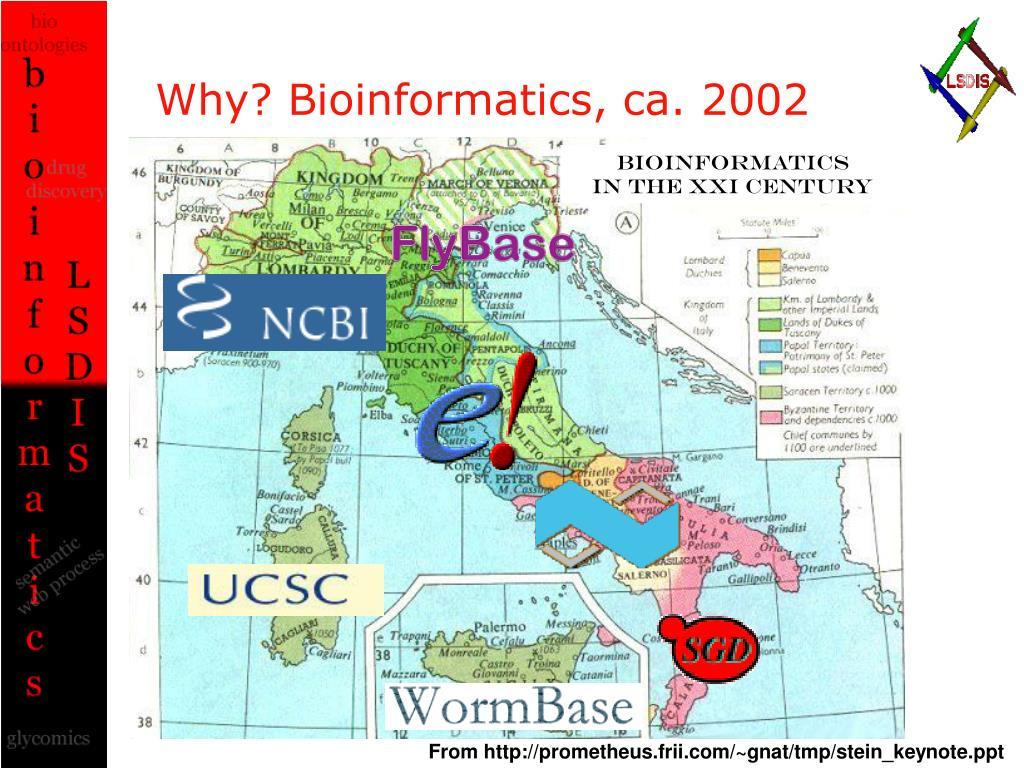 Why? Bioinformatics, ca. 2002