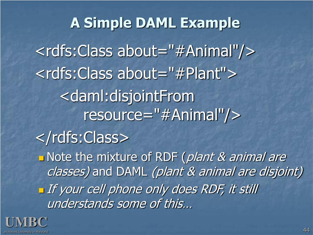 A Simple DAML Example