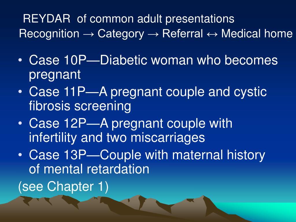 REYDAR  of common adult presentations