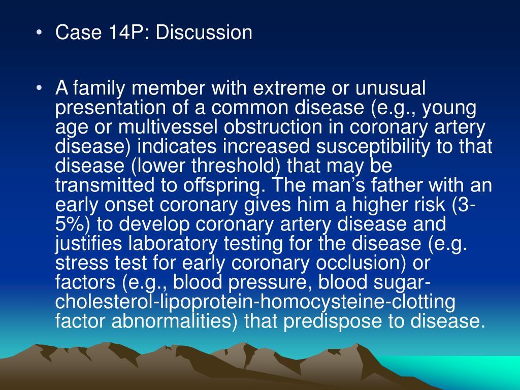 Case 14P: Discussion
