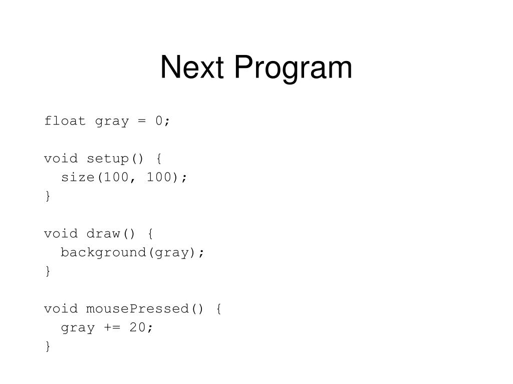 Next Program