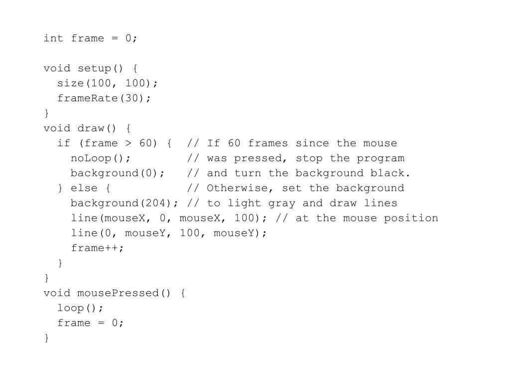 int frame = 0;