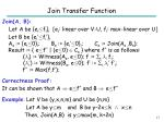 join transfer function