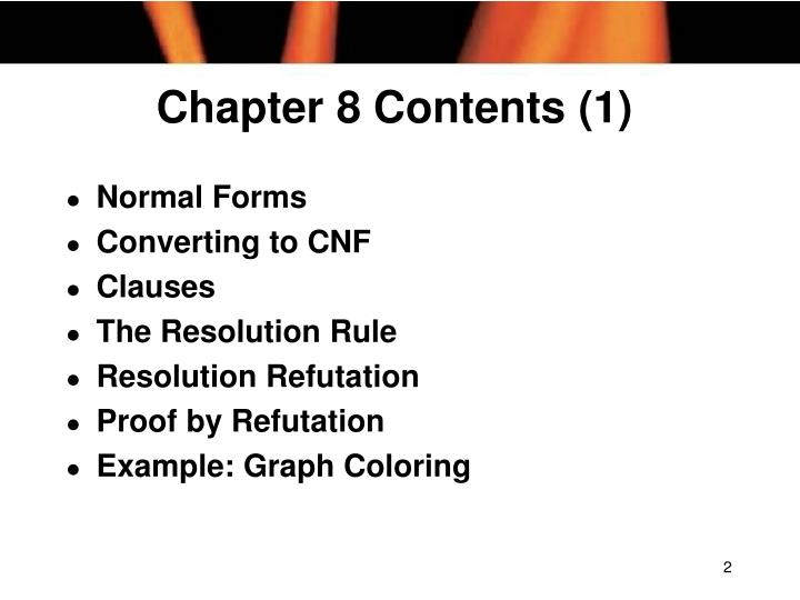 Chapter 8 contents 1
