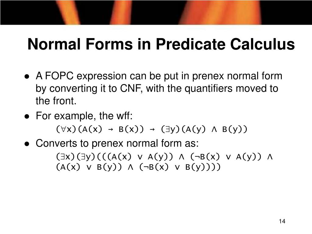 Normal Forms in Predicate Calculus