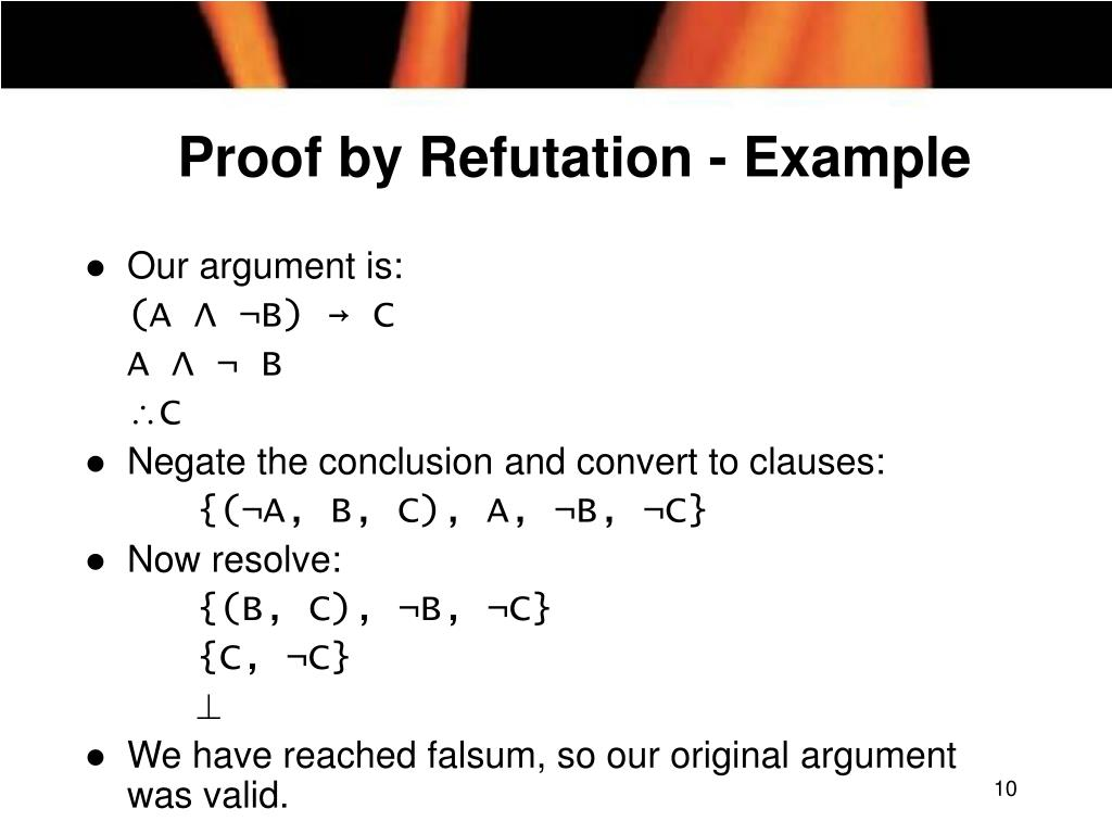 Proof by Refutation - Example