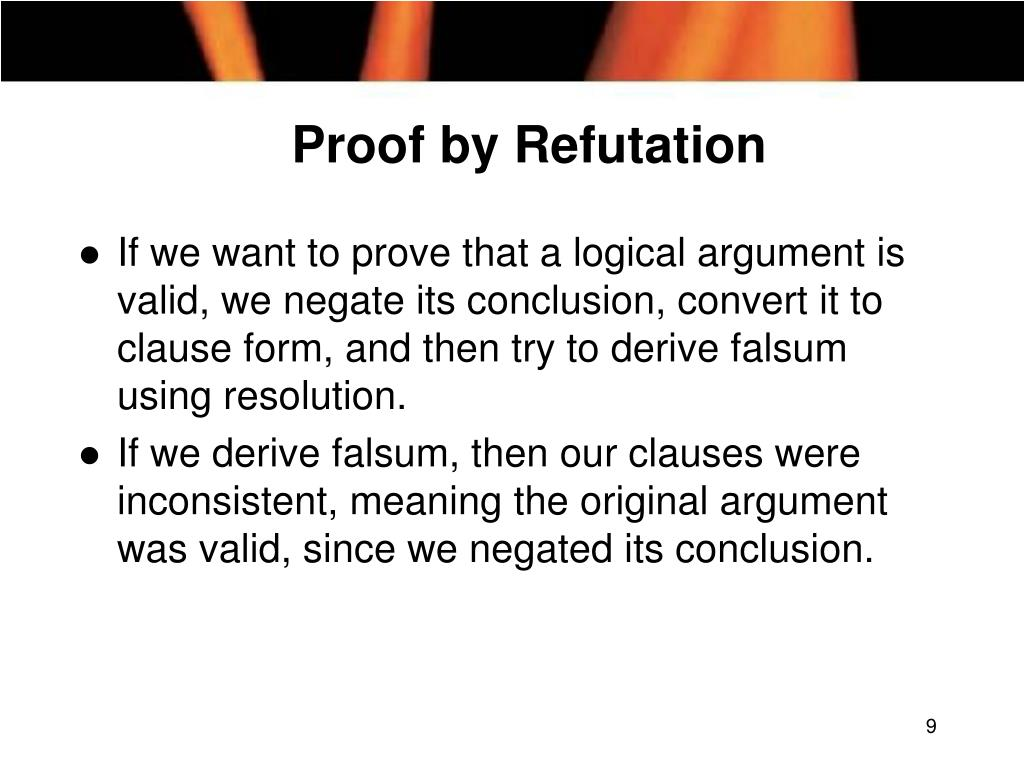 Proof by Refutation