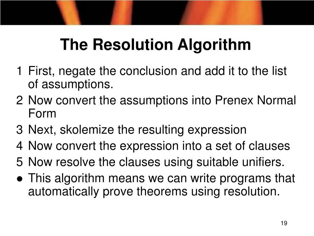 The Resolution Algorithm