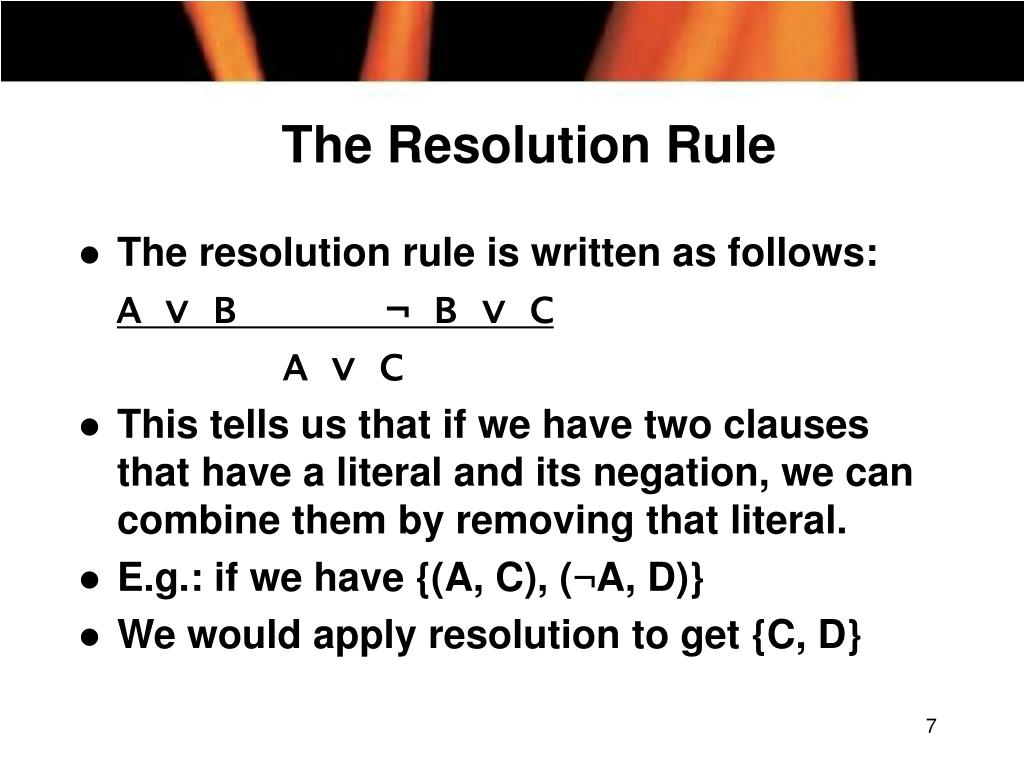 The Resolution Rule