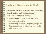 antibiotic resistance in o m17
