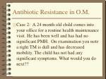 antibiotic resistance in o m19