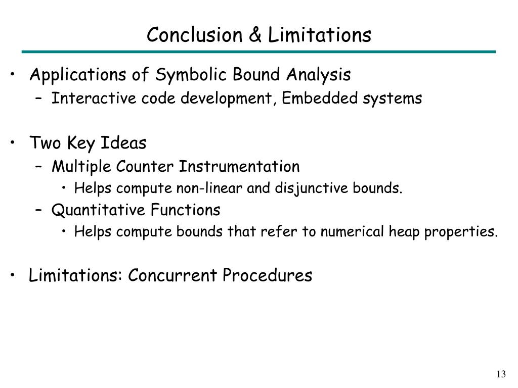 Conclusion & Limitations