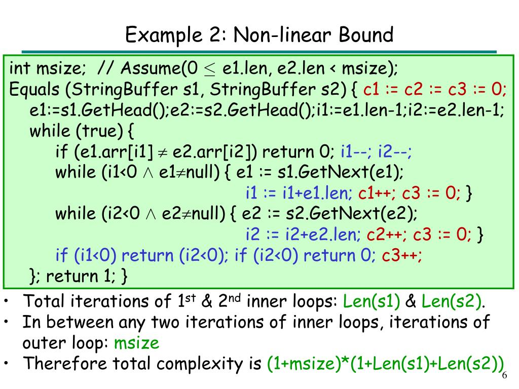 Example 2: Non-linear Bound