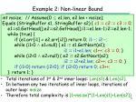example 2 non linear bound