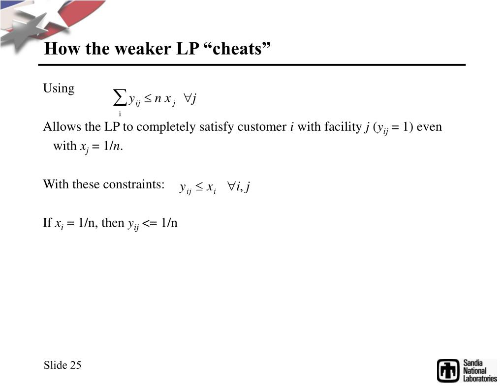 "How the weaker LP ""cheats"""