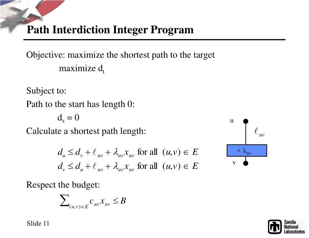 Path Interdiction Integer Program