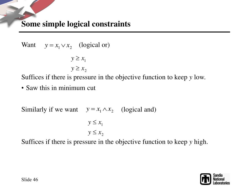 Some simple logical constraints